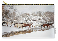 Ranch Horse Winter Carry-all Pouch