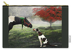 Carry-all Pouch featuring the photograph Ranch Pals by Melinda Hughes-Berland