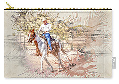 Ranch Rider Digital Art-b1 Carry-all Pouch