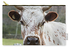 Carry-all Pouch featuring the photograph Randall Cow by Bill Wakeley