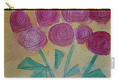 Carry-all Pouch featuring the painting Randi's Roses by Kim Nelson