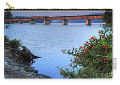 Carry-all Pouch featuring the photograph Rankin Bottoms Rr Bridge by Douglas Stucky
