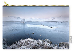 Carry-all Pouch featuring the photograph Black Mount Misty Winter Sunrise by Grant Glendinning