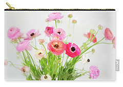 Ranunculus And Anemones Painterly Carry-all Pouch
