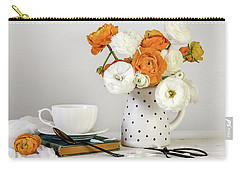 Carry-all Pouch featuring the photograph Ranunculus Bouquet by Kim Hojnacki