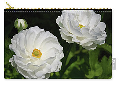 Ranunculus White Flowers Carry-all Pouch