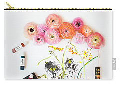 Ranunculus With First Watercolor Carry-all Pouch