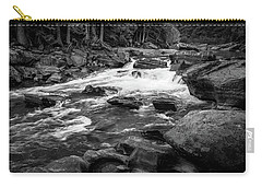 Rapids Through The Forest Bw Carry-all Pouch