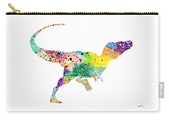 Raptor 2 Dinosaur Watercolor Carry-all Pouch by Svetla Tancheva