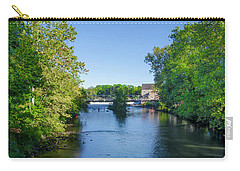 Raritan River - Clinton New Jersey  Carry-all Pouch by Bill Cannon