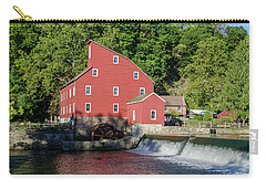 Rariton River And The Red Mill - Clinton New Jersey Carry-all Pouch by Bill Cannon
