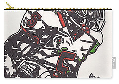 Carry-all Pouch featuring the drawing Rashard Mendenhall 1 by Jeremiah Colley