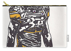 Carry-all Pouch featuring the drawing Rashard Mendenhall 2 by Jeremiah Colley