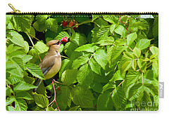 Carry-all Pouch featuring the photograph Raspberry Bandit by Sean Griffin