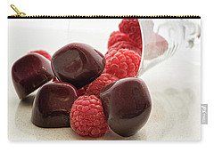 Carry-all Pouch featuring the photograph Raspberry Chocolate by Sabine Edrissi