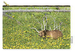 Raspberry, Sow Grizzly Carry-all Pouch