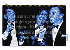 Rat Pack At Carnegie Hall With Quote Carry-all Pouch