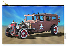 Carry-all Pouch featuring the photograph Rat Rod On Beach 3 by Mike McGlothlen