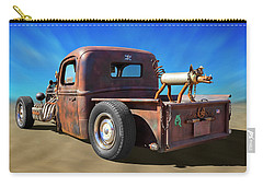 Carry-all Pouch featuring the photograph Rat Truck On Beach 2 by Mike McGlothlen