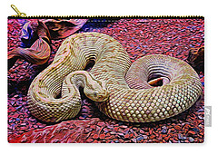 Rattlesnake In Abstract Carry-all Pouch
