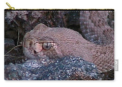 Rattlesnake Portrait Carry-all Pouch
