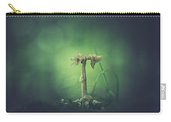 Carry-all Pouch featuring the photograph Ravaged Shroom In The Land Of Small by Shane Holsclaw