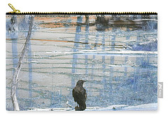 Raven About The Yellowstone Carry-all Pouch by Ann Johndro-Collins