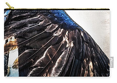Carry-all Pouch featuring the photograph Raven Attitude by Carolyn Marshall