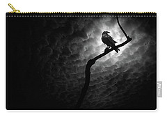 Raven, Death Valley Carry-all Pouch by Marius Sipa