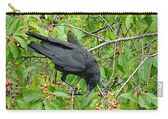 Raven In The Cherry Tree Carry-all Pouch