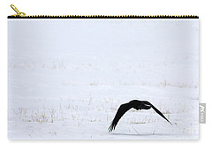 Raven In The Snow Carry-all Pouch