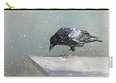 Raven In Winter Carry-all Pouch