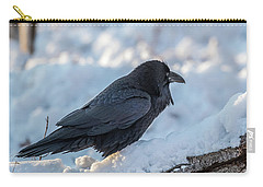 Carry-all Pouch featuring the photograph Raven by Paul Freidlund