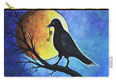 Raven With Key Carry-all Pouch by Agata Lindquist