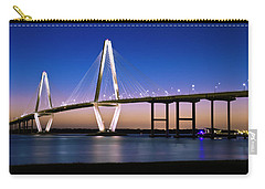 Carry-all Pouch featuring the photograph Ravenel Bridge 2 by Bill Barber