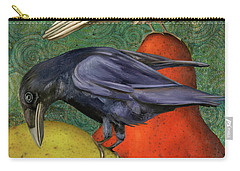 Ravens On Pears Carry-all Pouch
