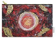 Raw Harmony Red And Gold Art Carry-all Pouch