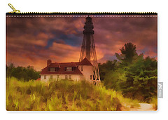 Rawley Point Lighthouse Carry-all Pouch by Joel Witmeyer