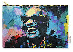 Carry-all Pouch featuring the painting Ray Charles by Richard Day