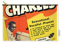 Ray Charles Rock N Roll Concert Poster 1950s Carry-all Pouch