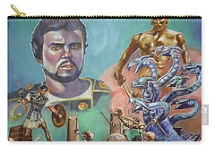Carry-all Pouch featuring the painting Ray Harryhausen Tribute Jason And The Argonauts by Bryan Bustard