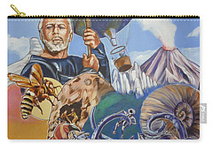 Carry-all Pouch featuring the painting Ray Harryhausen Tribute The Mysterious Island by Bryan Bustard