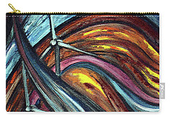 Carry-all Pouch featuring the painting Ray Of Hope 2 by Harsh Malik
