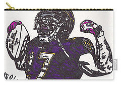 Carry-all Pouch featuring the drawing Ray Rice 1 by Jeremiah Colley