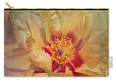 Rayanne's Peony Carry-all Pouch by Jeff Burgess
