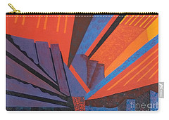 Rays Floor Cloth - Sold Carry-all Pouch by Judith Espinoza
