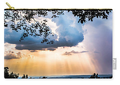 Carry-all Pouch featuring the photograph Rays Of Color by Parker Cunningham