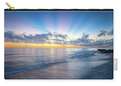 Carry-all Pouch featuring the photograph Rays Over The Reef by Debra and Dave Vanderlaan