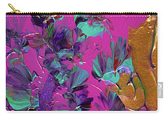 Razberry Ocean Of Butterflies Carry-all Pouch