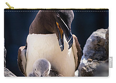 Razorbill With Chick, Farne Islands Carry-all Pouch